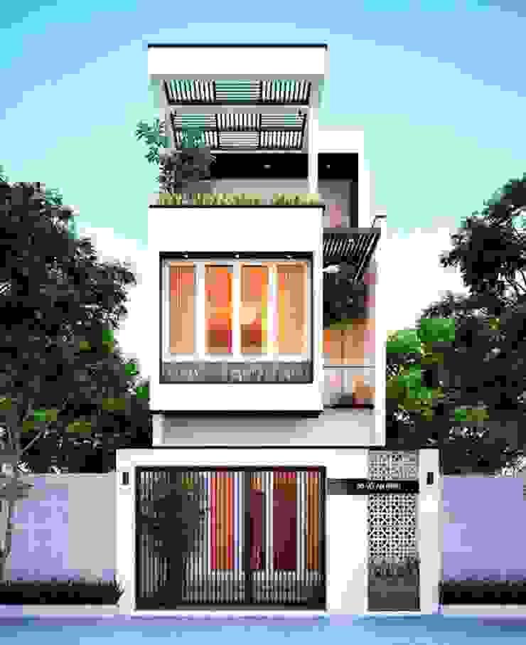 Mẫu thiết kế nhà ngang 6m dài 17m hiện đại bởi Thiết kế nhà đẹp ở Hồ Chí Minh