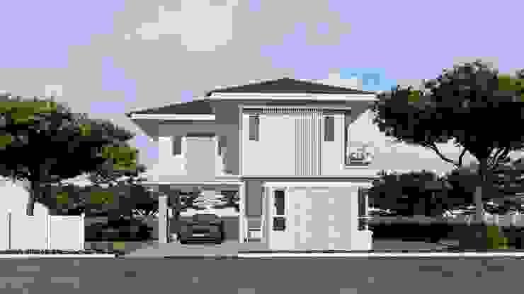 บ้านตัวอย่างของบ้านระเบียงขาว ในโครงการที่หัวหิน บริษัท บ้านระเบียงขาว จำกัด