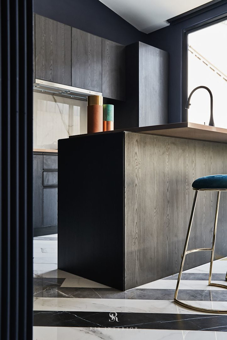 生生創研|XOR Creative Research 理絲室內設計有限公司 Ris Interior Design Co., Ltd. Kitchen units Metal Black