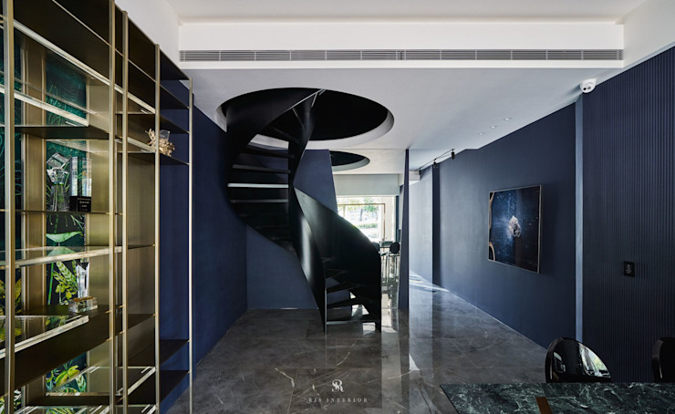 生生創研|XOR Creative Research 理絲室內設計有限公司 Ris Interior Design Co., Ltd. Stairs Iron/Steel Black