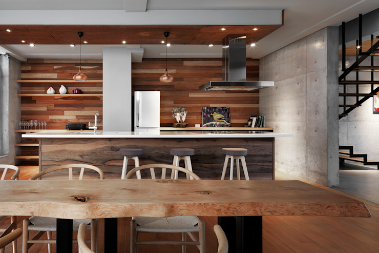 Phòng ăn phong cách tối giản bởi 木耳生活藝術 Tối giản