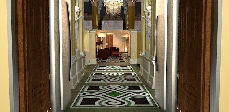 Hotel Entrance Classic hotels by ARTE DELL'ABITARE Classic Marble