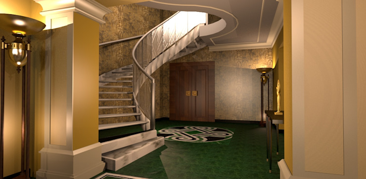 Scala Hall Eclectic style hotels by ARTE DELL'ABITARE Eclectic Aluminium/Zinc
