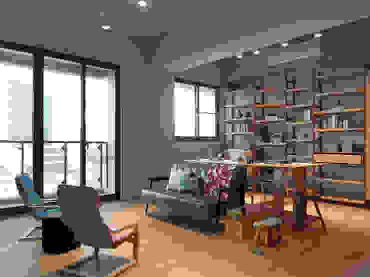 木耳生活藝術-室內設計/新竹・楊宅 现代客厅設計點子、靈感 & 圖片 根據 木耳生活藝術 現代風