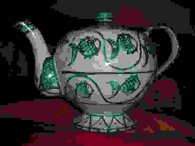 Decorated Ceramic Teapot de ARTE DELL'ABITARE Mediterráneo Cerámico