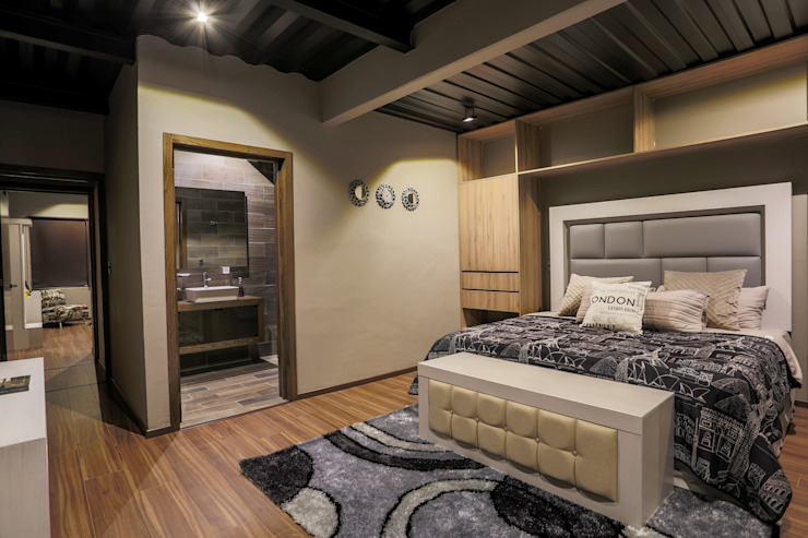 Modern style bedroom by Con Contenedores S.A. de C.V. Modern