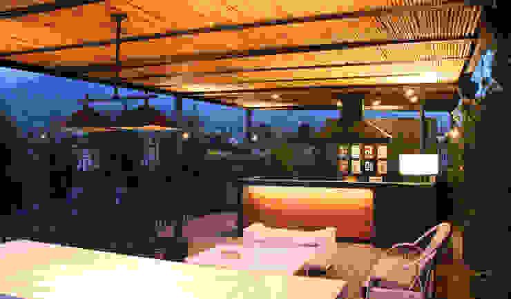 QUINCHO CAMINO REAL de ESTUDIOFES ARQUITECTOS Moderno Bambú Verde
