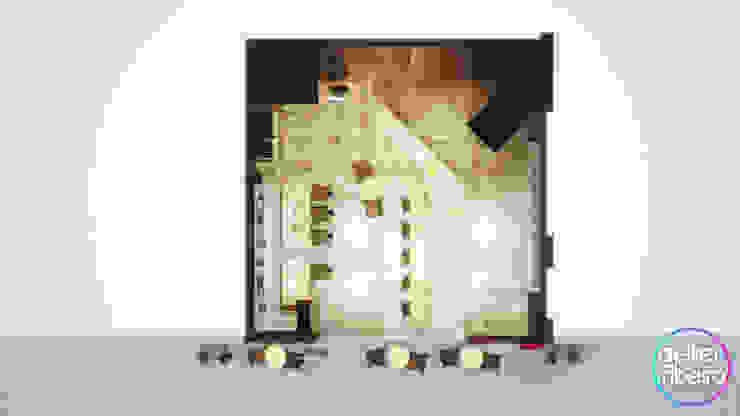 Study/office by Gelker Ribeiro Arquitetura | Arquiteto Rio de Janeiro, Modern Engineered Wood Transparent