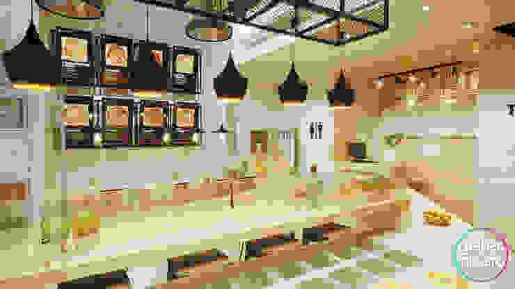 Gelker Ribeiro Arquitetura | Arquiteto Rio de Janeiro ห้องครัวขนาดเล็ก ไม้เอนจิเนียร์ Wood effect