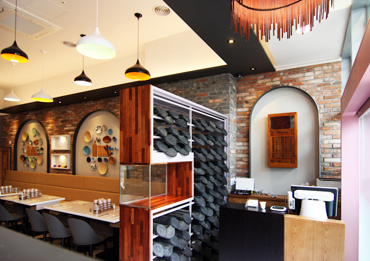 레스토랑 카운터 - 라온삼계탕 by IDA - 아이엘아이 디자인 아틀리에 러스틱 (Rustic) 벽돌