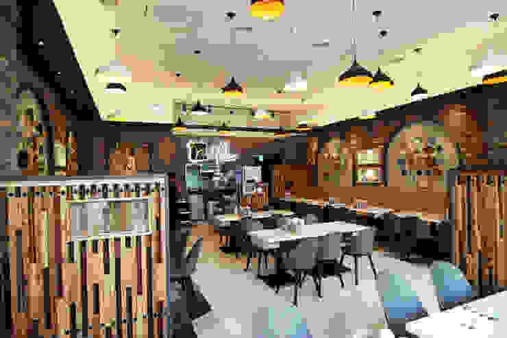 레스토랑 - 라온삼계탕 홀 by IDA - 아이엘아이 디자인 아틀리에 러스틱 (Rustic) 벽돌