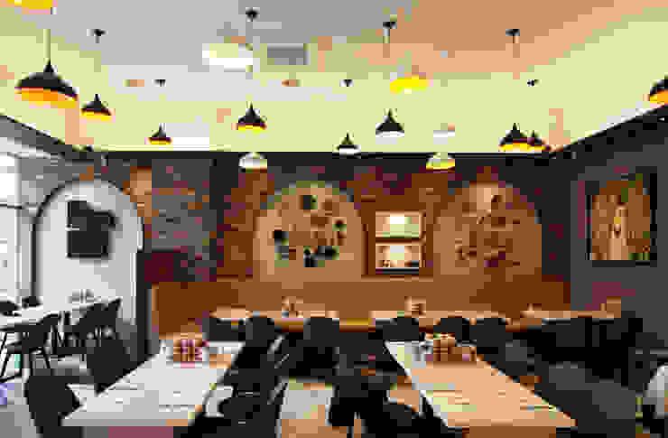 레스토랑 - 라온삼계탕 디자인월 by IDA - 아이엘아이 디자인 아틀리에 러스틱 (Rustic) 벽돌