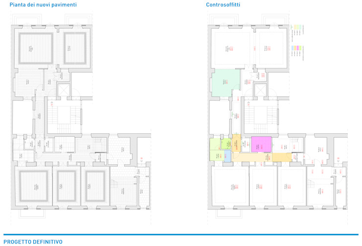 Presentazione iter progettuale Ingresso, Corridoio & Scale in stile classico di Chantal Forzatti architetto Classico Ardesia