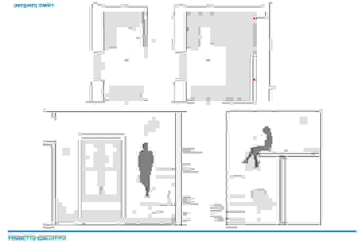 Presentazione iter progettuale Giardino d'inverno in stile industriale di Chantal Forzatti architetto Industrial Legno massello Variopinto