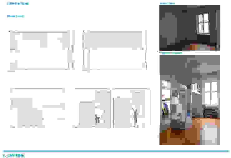 Chantal Forzatti architetto Puertas de garaje Cerámico Negro