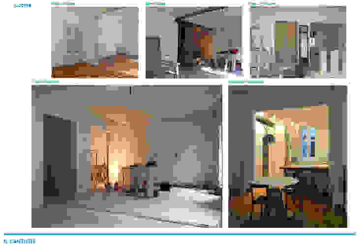 Chantal Forzatti architetto Bodegas de estilo minimalista Hierro/Acero Acabado en madera