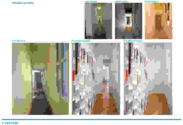Presentazione iter progettuale Ingresso, Corridoio & Scale in stile rustico di Chantal Forzatti architetto Rustico Cemento armato