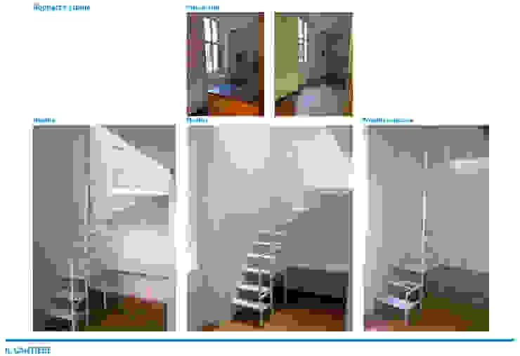 Presentazione iter progettuale Palestra in stile minimalista di Chantal Forzatti architetto Minimalista Cemento armato