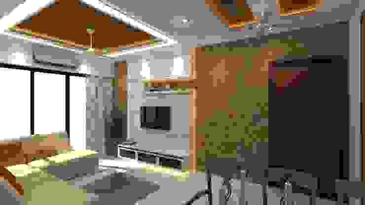 TV UNIT Modern living room by Clickhomz Modern