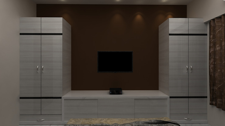 MASTER BEDROOM WITH WARDROBE Modern style bedroom by Clickhomz Modern