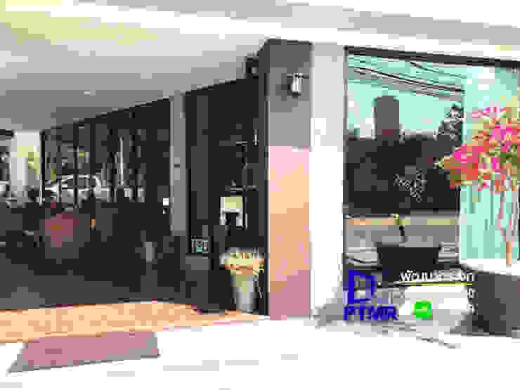 ชุดกระจกอลูมิเนียม ร้านกาแฟ ดีไซน์สวย ฟังค์ชั่นครบการใช้งานครับ โดย พัฒนากระจก พัทยา Pattana Mirror