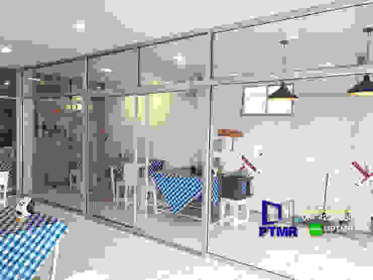 กั้นกระจก หน้าร้าน ประตูบานเลื่อน โดย พัฒนากระจก พัทยา Pattana Mirror