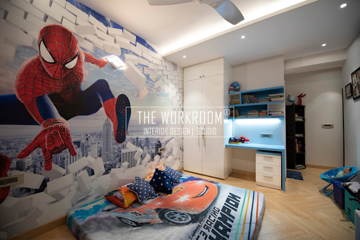 Apartment in Ridgewood Estate, Gurugram The Workroom Boys Bedroom Blue