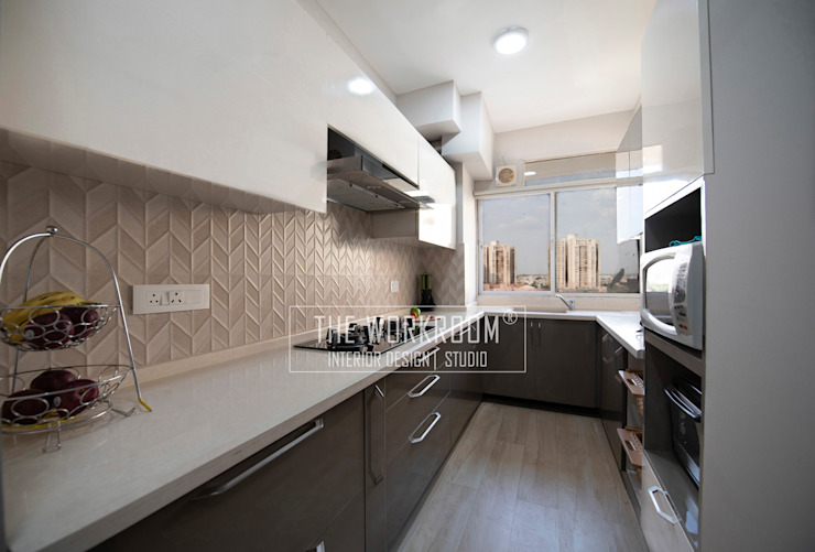Apartment in Ridgewood Estate, Gurugram The Workroom Modern kitchen