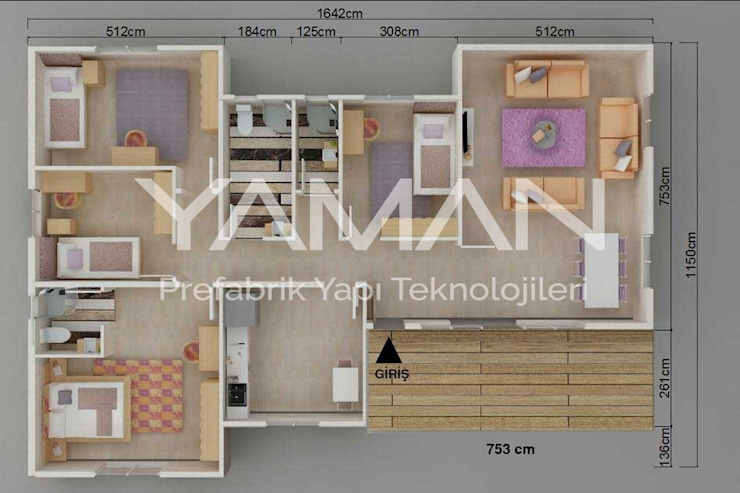 166 m2 Prefabrik Ev Prefabrik Ev (Yaman Prefabrik)