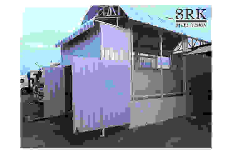 โรงเก็บถังน้ำมัน ออกแบบด้วยโครงสร้างเหล็ก หลังคาเมทัลชีท โดย SRK Contractor