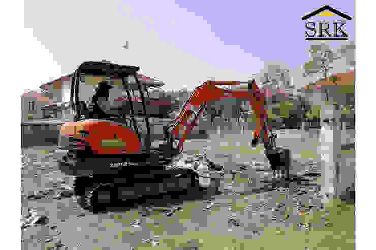 งานเคลียร์พื้นที่ด้วยแบคโฮ เตรียมปลูกสร้างบ้าน SRK Contractor