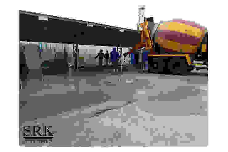 งานเทพื้น ปรับปรุงพื้นที่ลานจอดรถ SRK Contractor