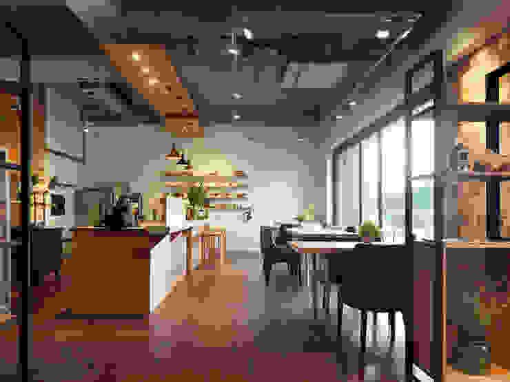 Ruang Makan Modern Oleh 木耳生活藝術 Modern