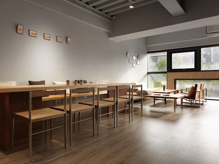 Modern dining room by 木耳生活藝術 Modern Solid Wood Multicolored