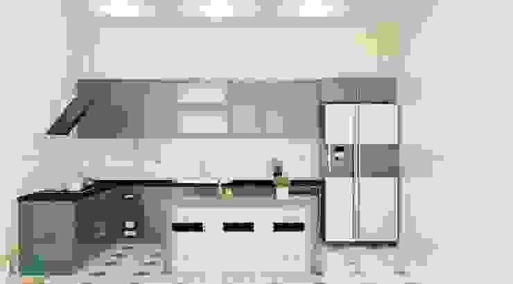 Những mẫu tủ bếp gỗ acrylic hiện đại dành cho căn bếp chung cư cao cấp bởi Nội thất Nguyễn Kim