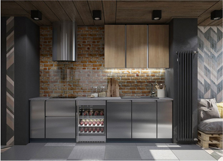Kitchen by Interior designers Pavel and Svetlana Alekseeva, Industrial