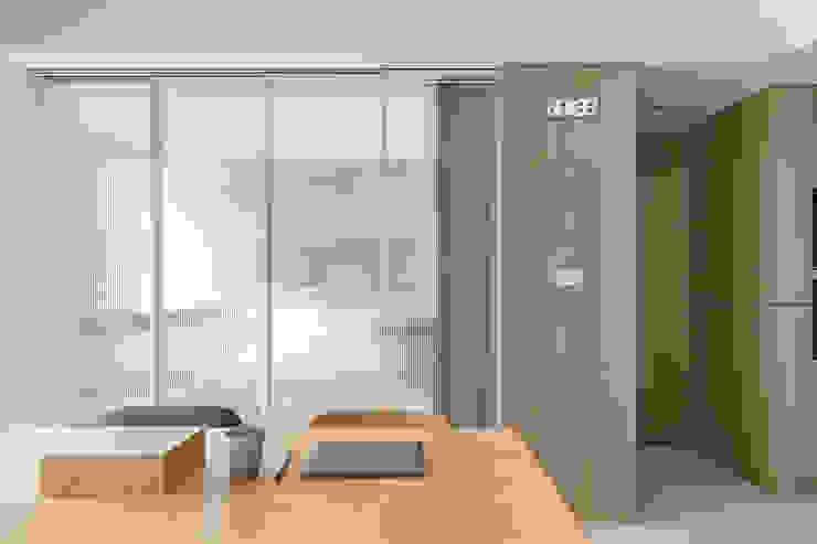 靜享宅 文儀室內裝修設計有限公司 臥室 玻璃 Wood effect
