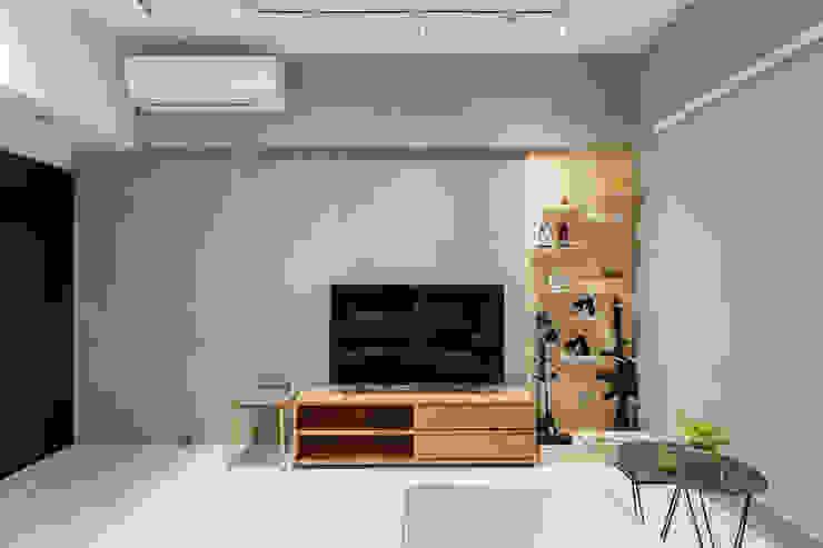 靜享宅 文儀室內裝修設計有限公司 牆面 水泥 Wood effect