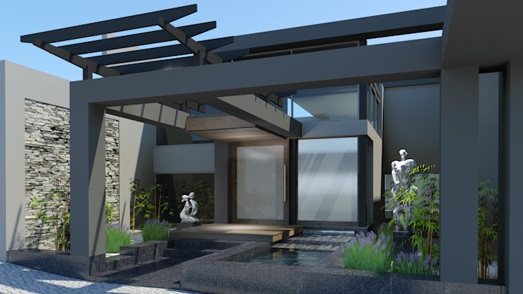 Zen Entrance by Edge Design Studio Architects Modern