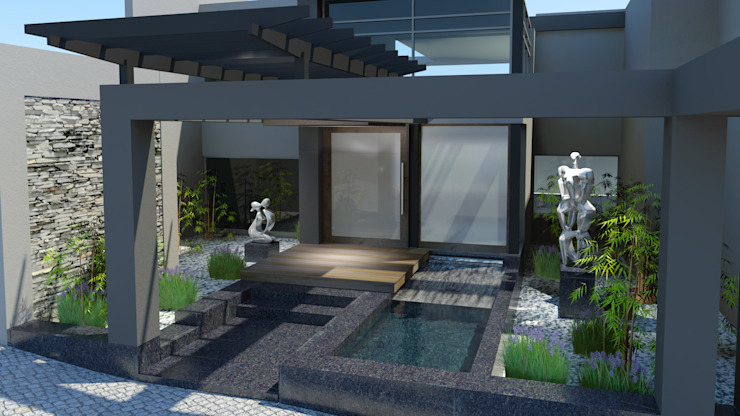 Proposed new entrance Modern houses by Edge Design Studio Architects Modern