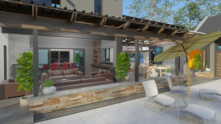 Outdoor living by Edge Design Studio Architects Country Wood Wood effect