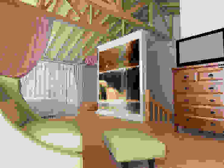 Yatak Odası - Dinlenme Alanı (Sonrası) Kalya İç Mimarlık \ Kalya Interıor Desıgn Klasik Yatak Odası Ahşap Bej
