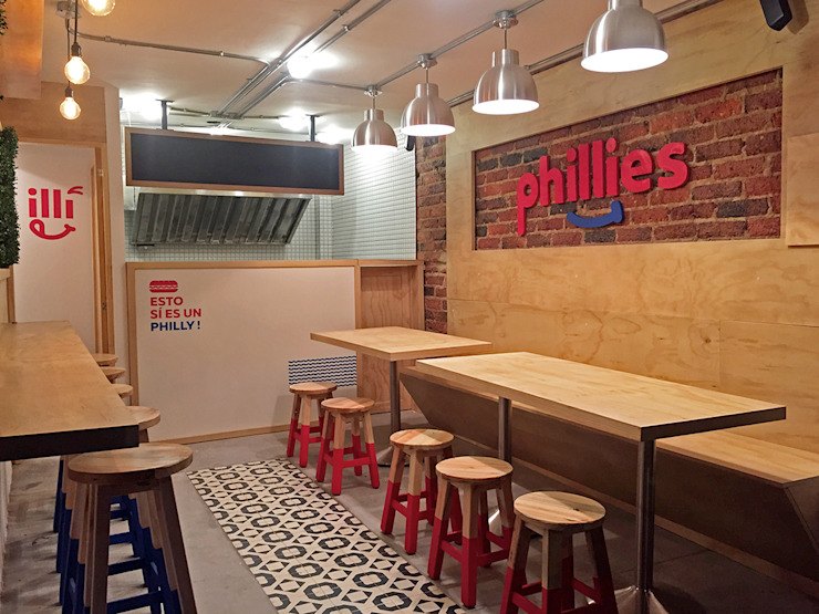 Phillies de Gamma Moderno Madera Acabado en madera