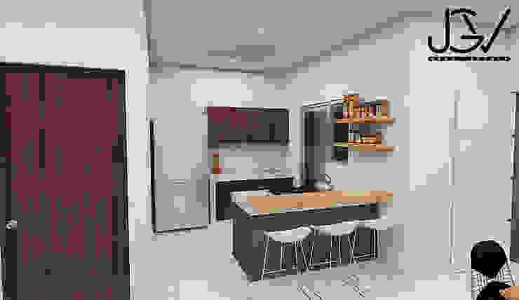 Cocina: Cocinas pequeñas de estilo  por JGV Arquitectura,
