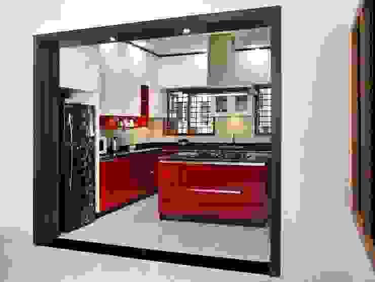 Island kitchen : modern  by classicspaceinterior,Modern Plywood