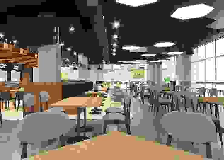 ผลงานการออกแบบ โรงอาหาร การไฟฟ้า จังหวัดอุดรธานี ค่ะ: ทันสมัย  โดย Bcon Interior , โมเดิร์น