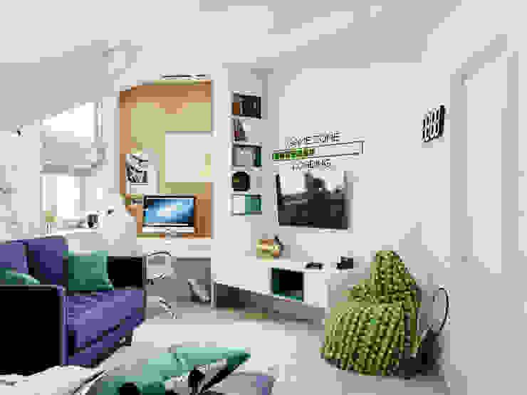 Детская для подростка: Спальни для мальчиков в . Автор – Goroh бюро, Модерн
