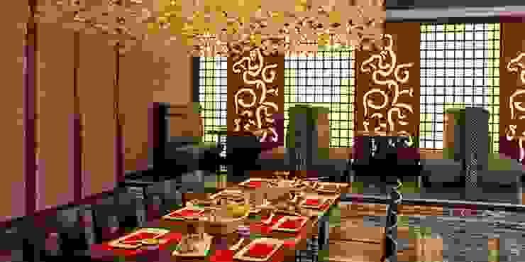Otel Uzakdoğu Restoranı - Localar Kalya İç Mimarlık \ Kalya Interıor Desıgn Asyatik Ahşap Ahşap rengi