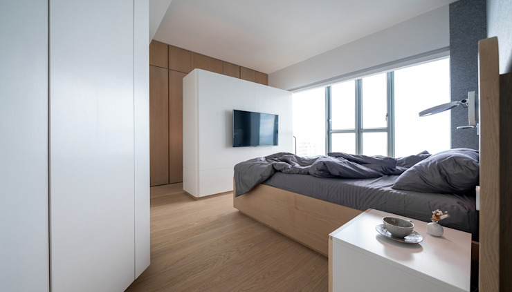 Bedroom by arctitudesign, Minimalist