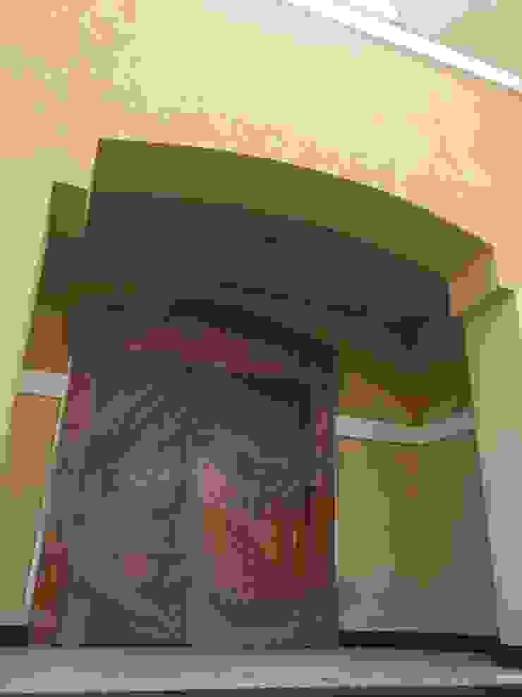 المدخل الممر الحديث، المدخل و الدرج من smarthome حداثي خشب Wood effect
